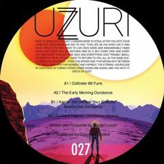 UZURI027 Giorgio Luceri - Space Fire Truth PT II  EP - Out on Uzuri 26th of February 2018