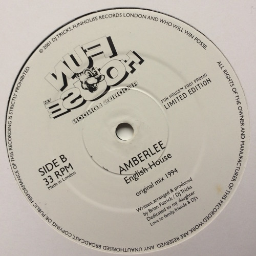 """AMBER LEE""  ENGLISH HOUSE(original 1994 mix)preview"