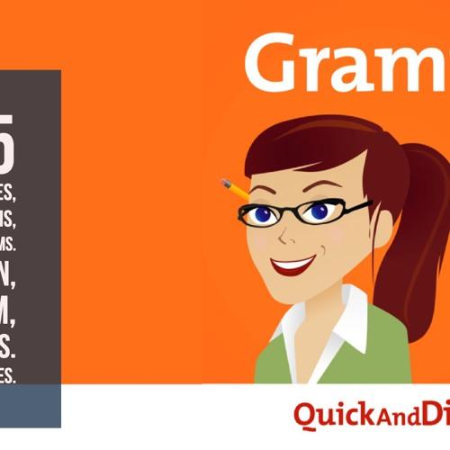 Grammar Girl #605. Homophones, Homographs, and Homonyms. Lectern, Podium, and Dais. Award Names.