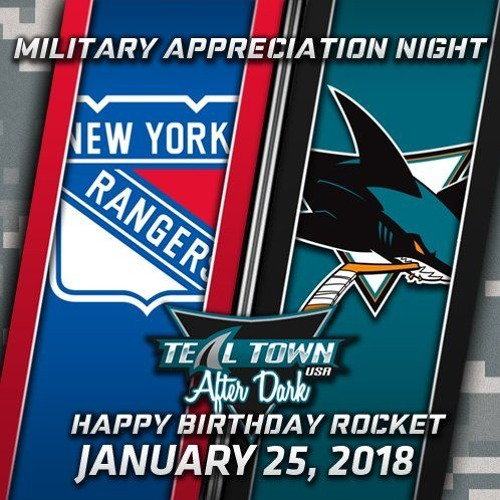 Teal Town USA After Dark (Postgame) Sharks vs Rangers - 1 - 25 - 2018