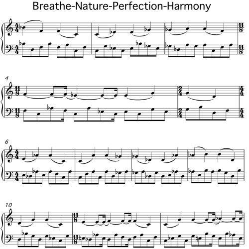 Breathe Nature Perfection Harmony