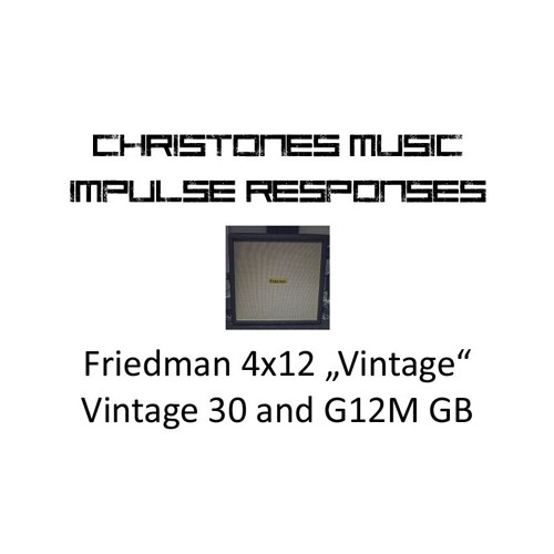 "Demo: CTM Friedman 4x12 ""Vintage"" Vintage 30 and G12M Greenback IRs"
