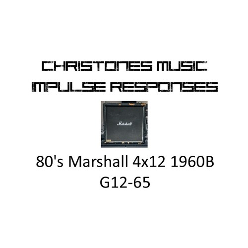 Demo: CTM 80's Marshall 4x12 1960B G12 - 65 IRs