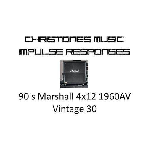 Demo: CTM 90's Marshall 4x12 1960AV Vintage 30 IRs