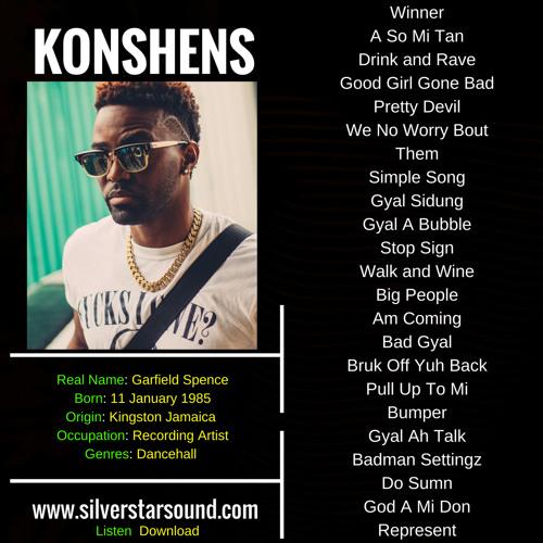 100% Konshens Dancehall Resume Mix 2018 by SilverStarSound | Silver