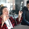 Elijah Wood and Jamie Fine at 95.5 Hits FM