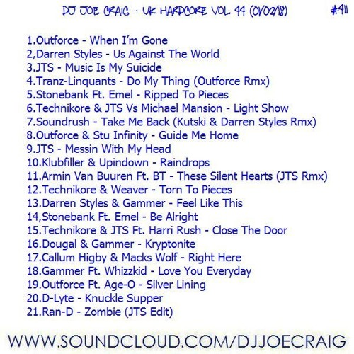 411.Dj Joe Craig - UK Hardcore Vol 44 (01-02-18)