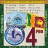 SINHALA - FEB 04 - SRI LANKAN NATIONAL DAY