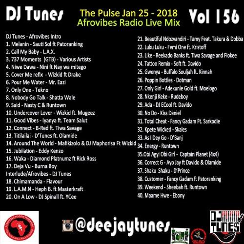 Vol 156 Deejaytunes AfroVibes radio mix - The Pulse Thursday Jan 25 2018