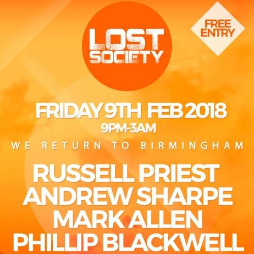 Andrew Sharpe - Lost Society February 2018 Promo Mix (Part 1 - Early Doors)