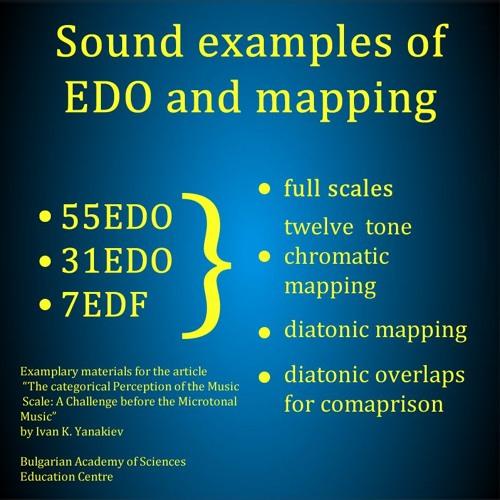 55EDO - 31EDO(440Hz) Diatonic Mapping