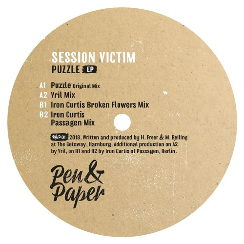 Session Victim - Puzzle EP - Pen&Paper - P&P01