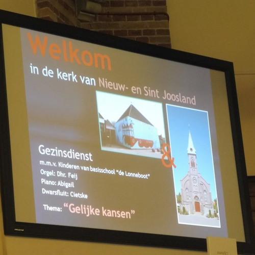 Kerk- en schooldienst 11 februari 2018 Nieuw- en Sint Joosland