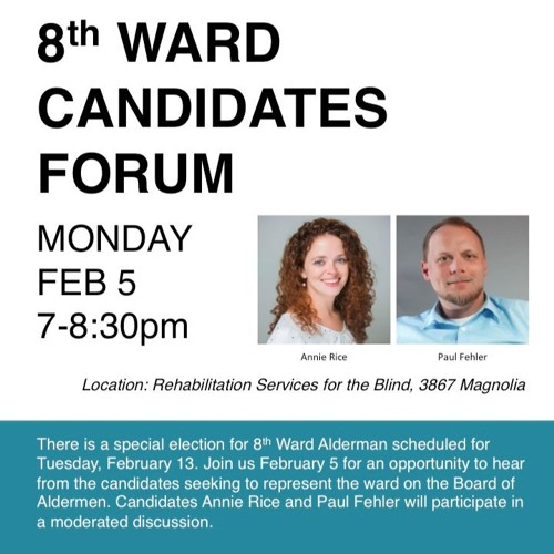 St. Louis 8th Ward Alderman Forum: February 5, 2018