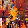 Collage: Purple violet_Wolfgang Riedmann/Gitarre_Karin Tarabochia/words and voice