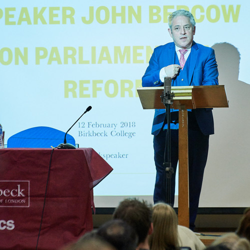 "Speaker John Bercow: ""Parliament as Pathfinder: Changing the Culture of an Ancient Institution"""