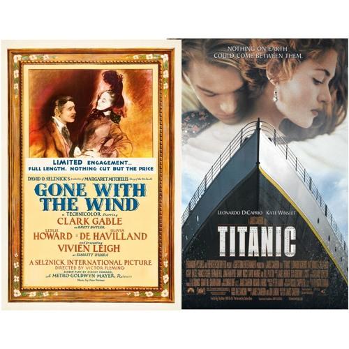 Episode 52 - Battle of 1939 v. 1997:  Gone with the Wind v. Titanic