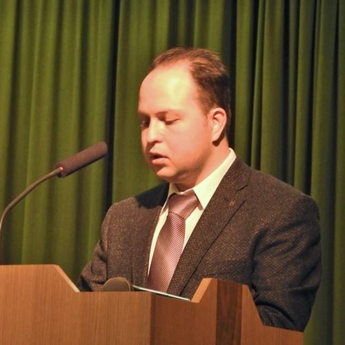 Predavanje mag. Simona Malmendalla na posvetu o dr. Grivcu in dr. Perku