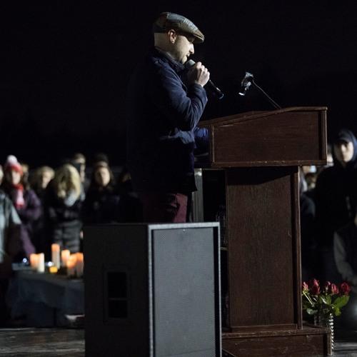 Dustin O'Donnell - Tualatin High School anti-violence vigil