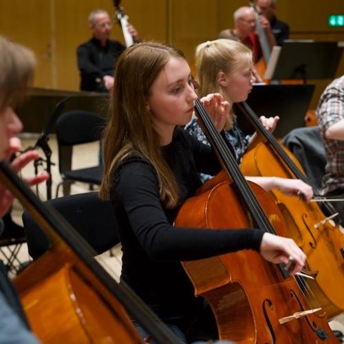 MGK elever spiller sammen med symfoniorkesteret
