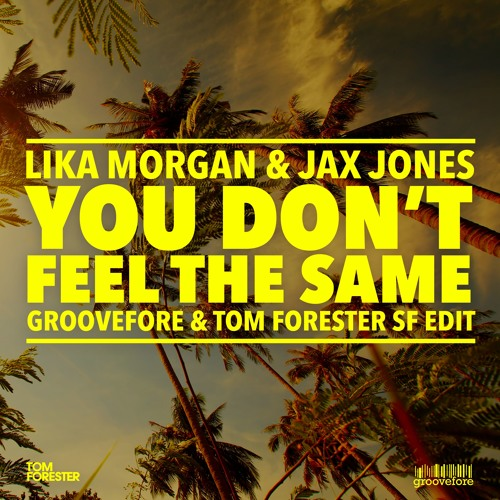 Like Morgan & Jax Jones - You Don't Feel The Same (Groovefore & Tom Forester Sunrise Festival Edit)