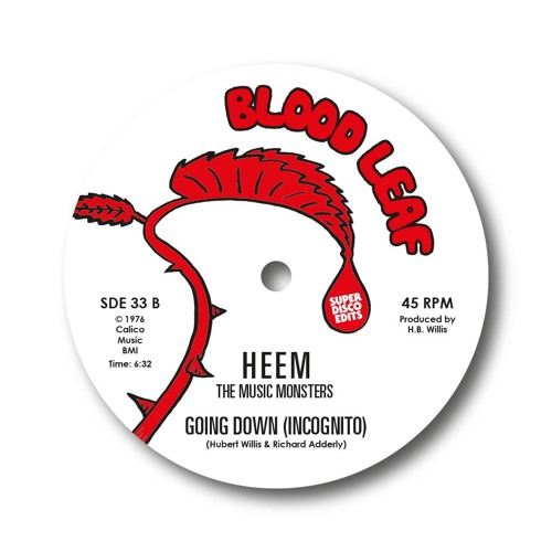 Heem The Music Monster Going Down (incognito) unissued disco 1976 blood leaf