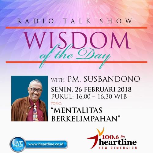 Wisdom of The Day - Mentalitas Berkelimpahan