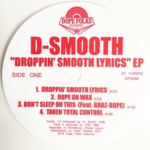DF0088 - D-SMOOTH - 4 THE HARDWAY - Feat. Mastermind, Cousin Jonah & Ed O.G.