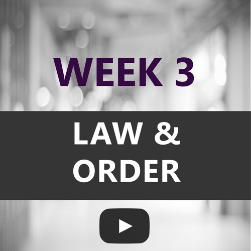 Looking Forward 2018 Week 3 - Law & Order with Greg Wasinski