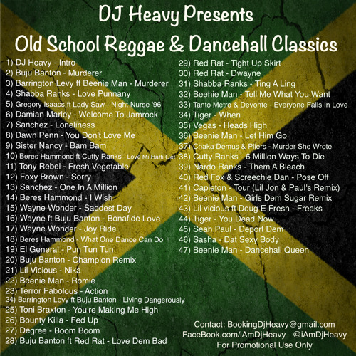 Old School Reggae & Dancehall Classics Vol  1 by iAmDJHeavy