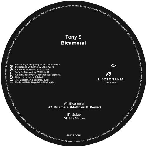 Tony S - 'Bicameral' (Original Mix) (SC Clip) [Lizstomania Records]