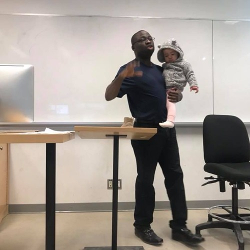 Larissa Crawford on going to class with her 1-y/o daughter
