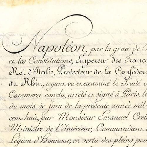 La ratification du traité de commerce entre la France et l'Italie, par Isabelle Richefort