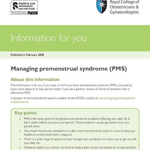 Managing premenstrual syndrome (PMS)