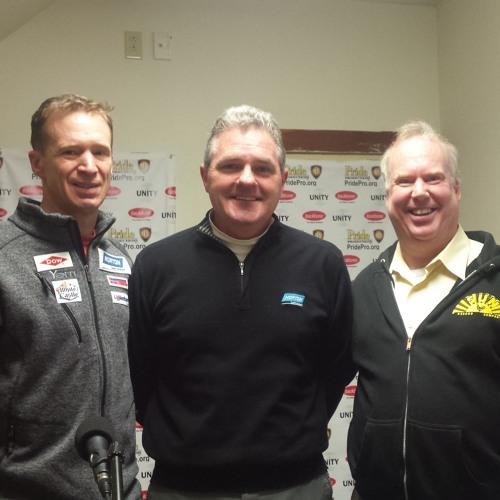Olympic Silver Medalist Gordy Sheer and Norton Abrasives VP Glenn Knowlton