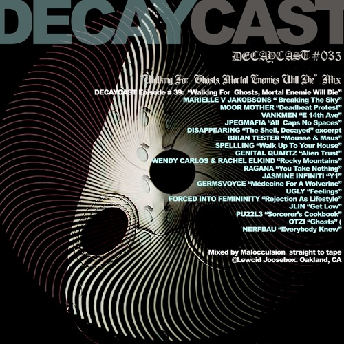 """DECAYCAST Episode 39:  """"Walking For  Ghosts, Mortal Enemies Will Die"""" Mix"""