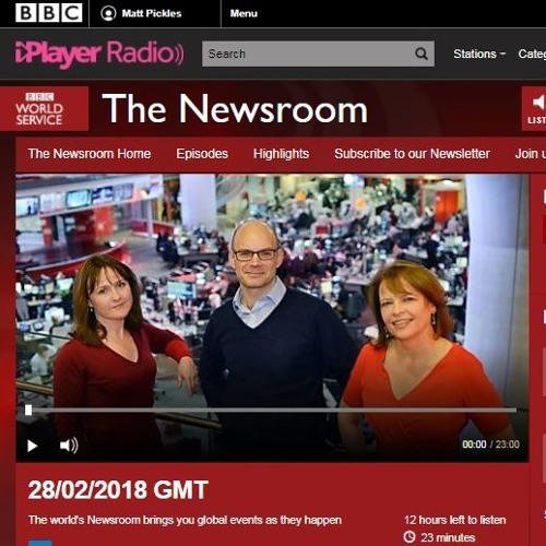BBC World Service, The Newsroom, 28/02/2018