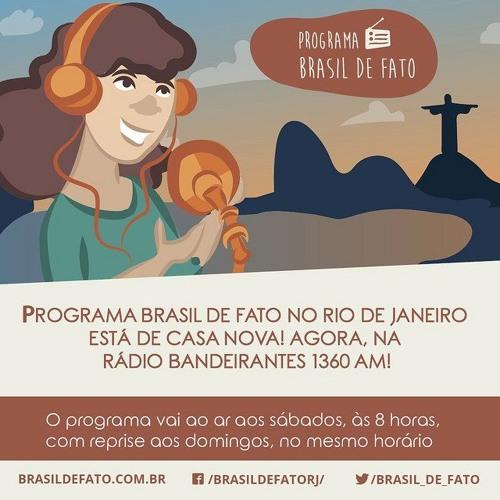Ouça o programa Brasil de Fato -Edição Rio de Janeiro - 10/03/18