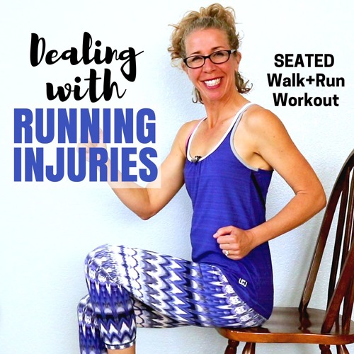 SEATED RUNNING | 25 Minute Walk + Run | How To Deal With Running INJURIES