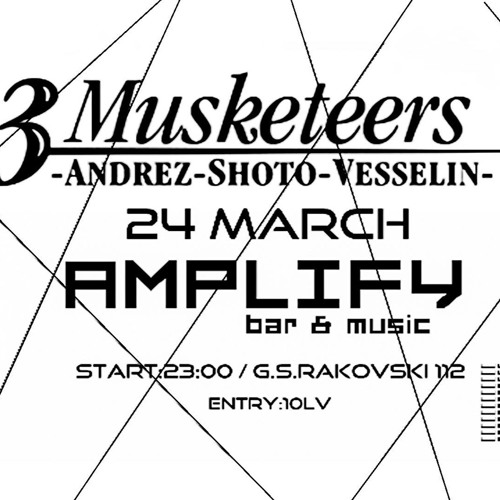 THE 3 MUSKETEERS AT AMPLIFY 24.03.2018 RADIO SPOT READY