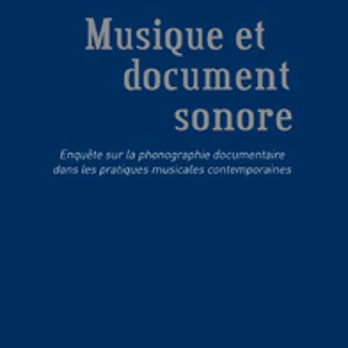 """""""Musique et document sonore"""" avec Pierre-Yves Macé"""