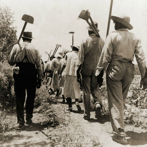 Forced free labor thrived in the South long after slavery
