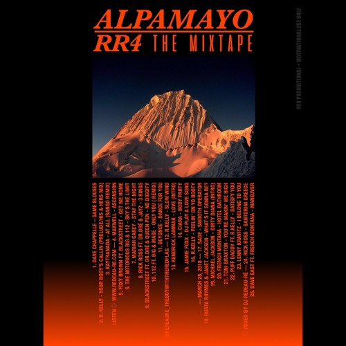 RR4 ^ ALPAMAYO ^ THE MIXTAPE | MIXED BY DJ REDEAU-RE | MARCH 21, 2018