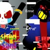 Corrupt Ink Sans and Error Sans- error sans stronger than you Female and male cover-