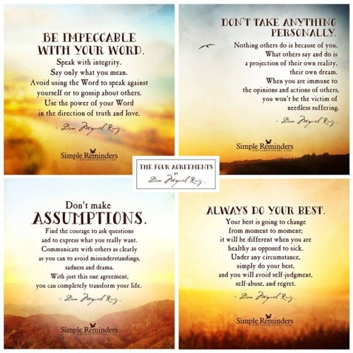 Don Miguel Ruiz The Four Agreements 1997 By Parabuilding Alx