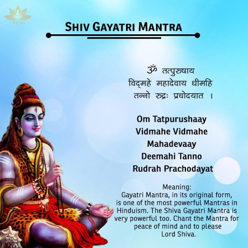Shiv Gayatri Mantra With Lyrics - Om Tatpurushaya Vidmahe by
