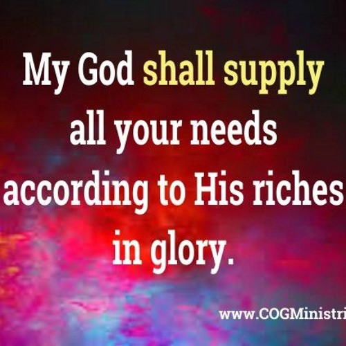 My God Shall Supply