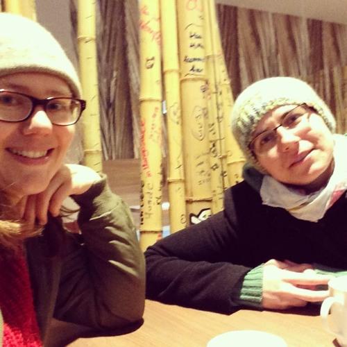 Mit der rumänischen Autorin Lavinia Braniste in einem Thai-Restaurant im Leipziger Bahnhof