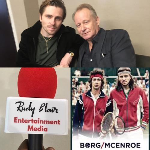 Chat w Actors Sverrir Gudnason & Stellan Skarsgård on movie Borg vs McEnroe