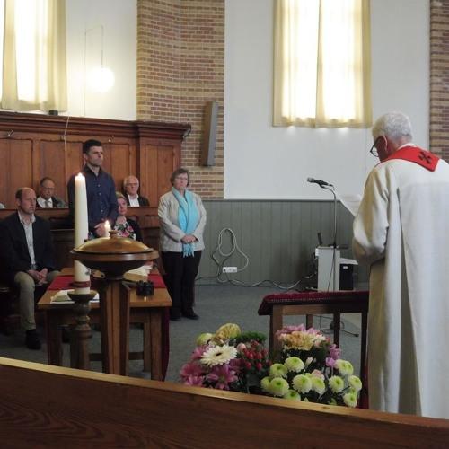 Kerkdienst 15 April  2018 Nieuwland. Ds. Leo Woltering. Bevestiging ambtsdragers